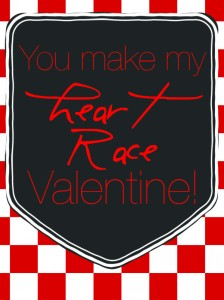 heart race valentine
